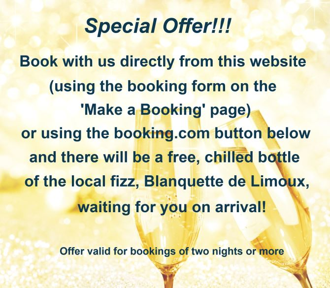 book using our website to receive a free bottle of fizz